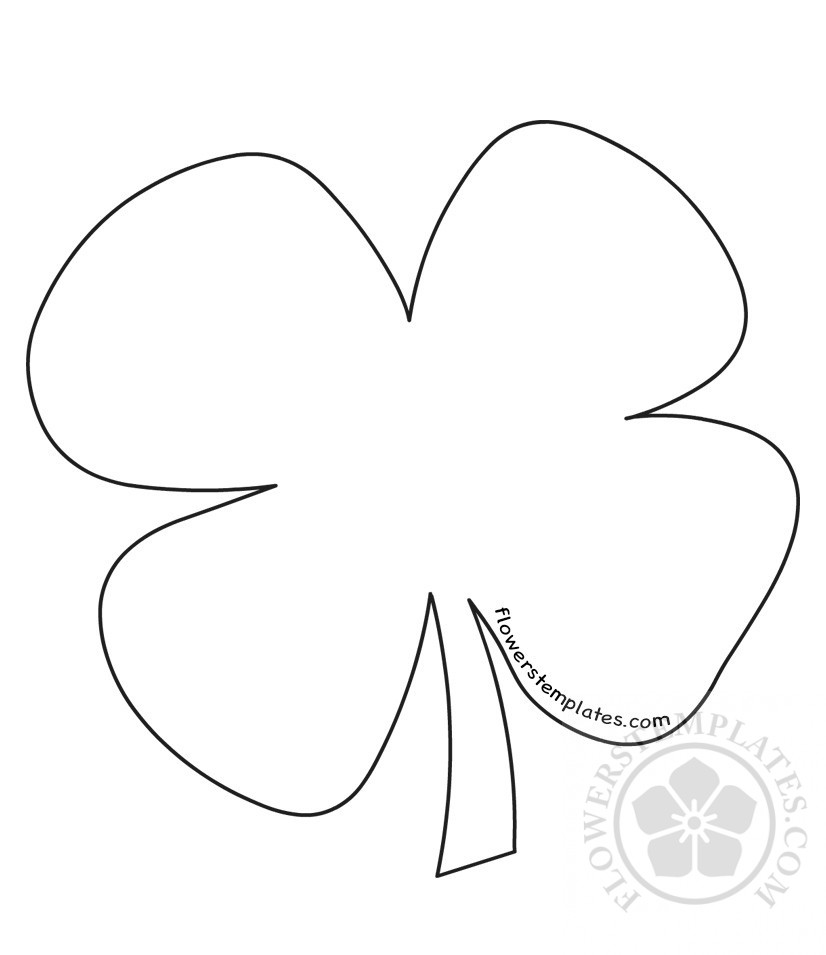 It's just a graphic of St Patrick's Day Clover Printable with marshmallow
