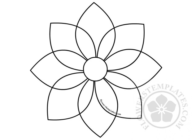 Abstract geometric flowers template