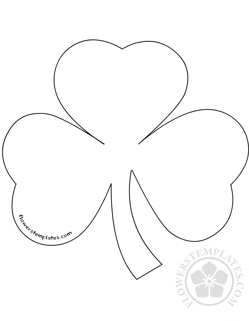 - Shamrock Template Printable For Craft Flowers Templates