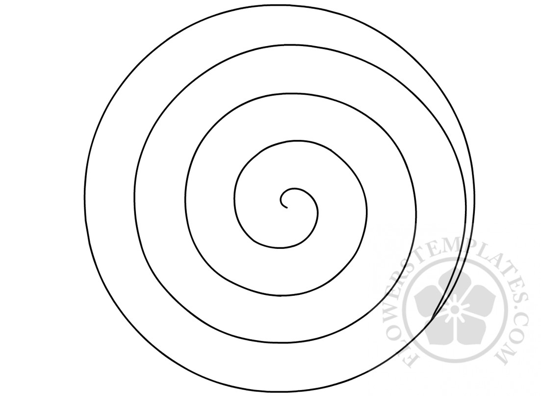 Spiral Paper Flower Pattern Flowers Templates