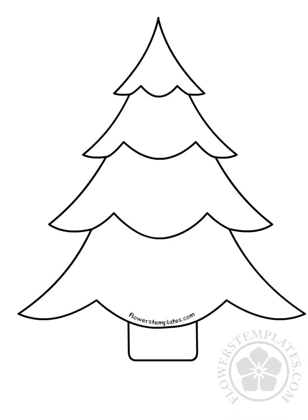 Christmas Tree Template For School Flowers Templates