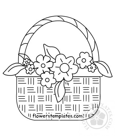 A basket full of flowers to color | 450x380