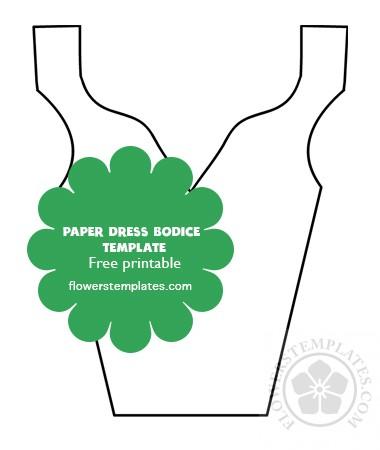 Paper flower dress Bodice pattern