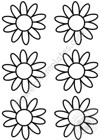 Daisy Pattern Coloring Page Flowers Templates