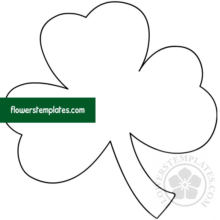 Printable Big Shamrock Template Flowers Templates