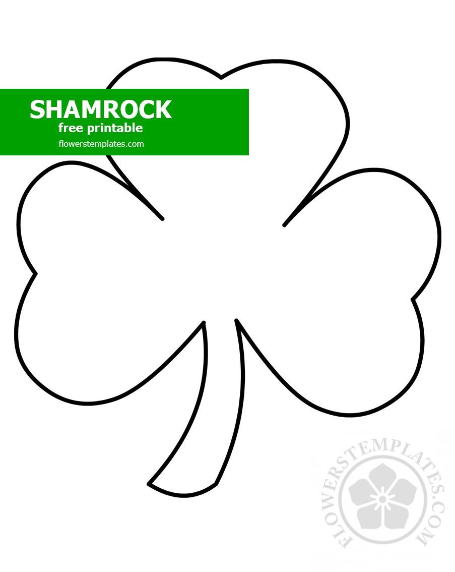 Shamrock Template Flowers Templates