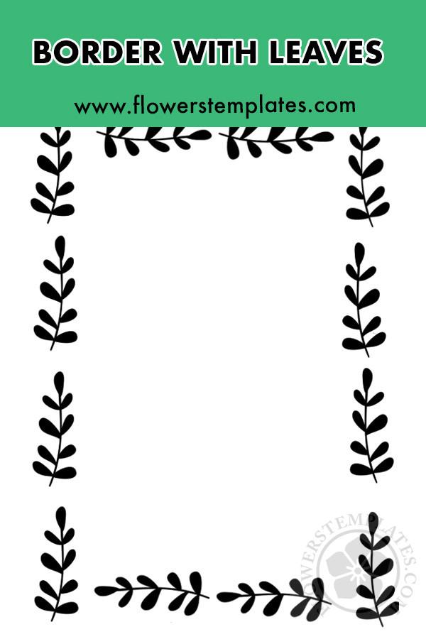 Black leaf border