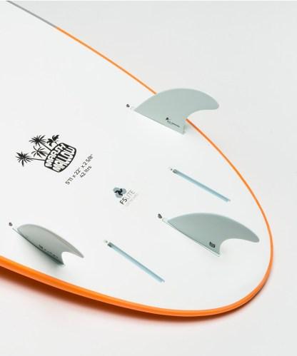Flowt Marshmallow 511 Orange Bottom Tail Details