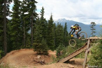 whistler bikepark freight train jump drop