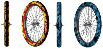 Farbige MTB Reifen
