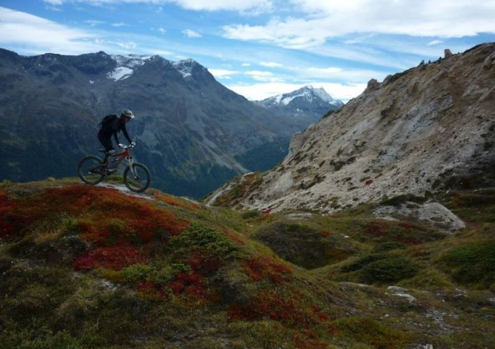 engadin corviglia indian summer bike