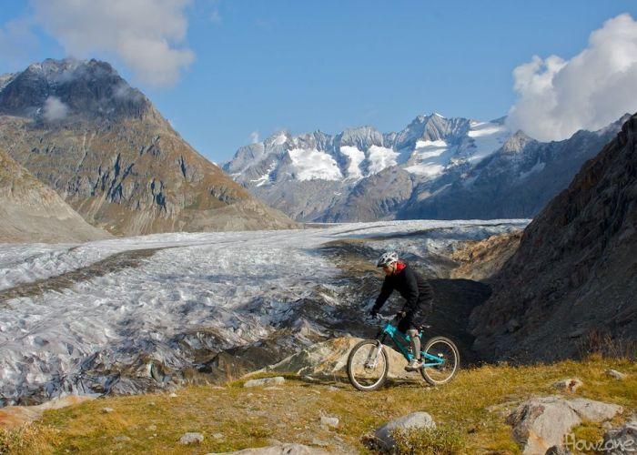 Trails mit so wunderschönem Hintergrund muss man erst noch suchen..