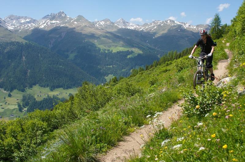 MTB Freeride Davos Klosters Rinerhorn