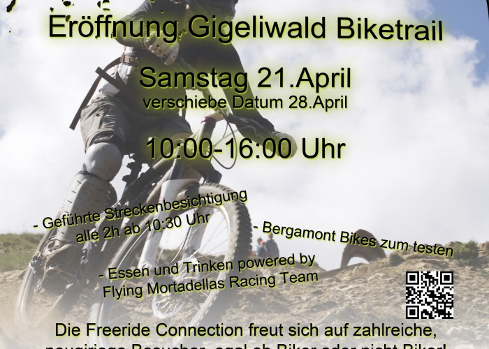 Freeride Connection Gigeliwald Eröffnung Flyer