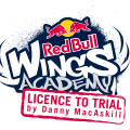 red bull wings academy - riding with danny macaskill logo flyer