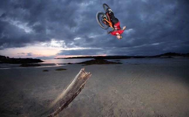 Danny MacAskill Backflip Drop Beach