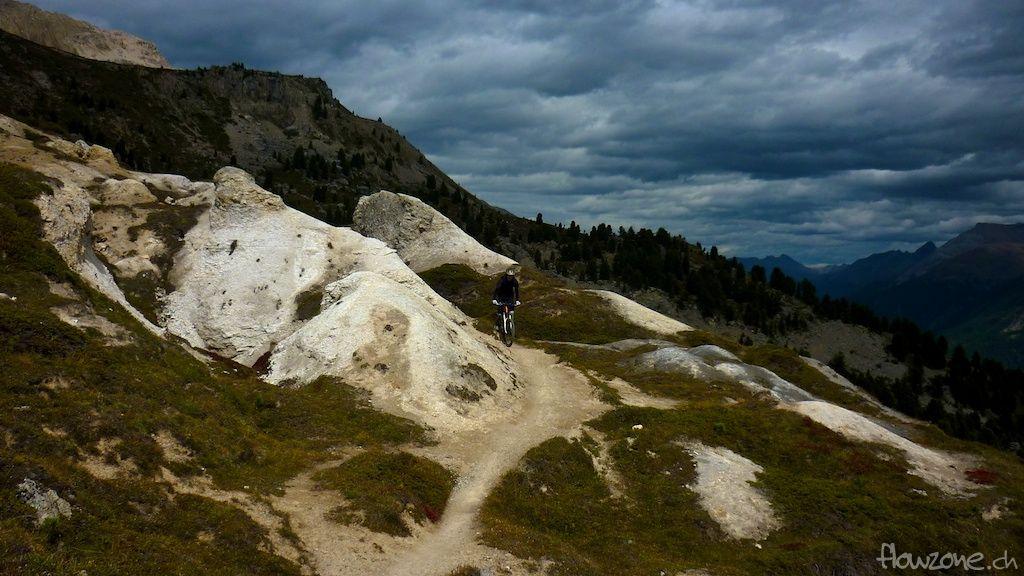 Engadin St. Moritz Corviglia Bike Mountainbike Freeride Strecke Singletrail Pumptrack