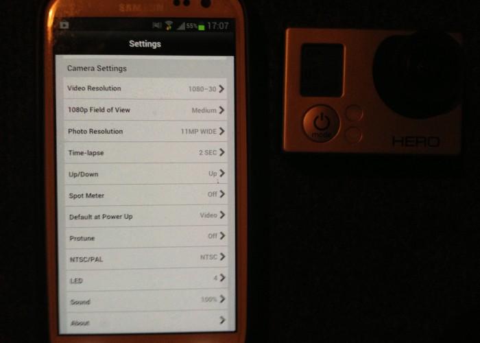 GoPro HD Hero3 - Einstellungen