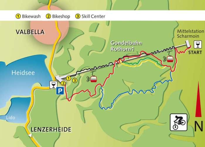 Bikepark Lenzerheide Karte Map Trails