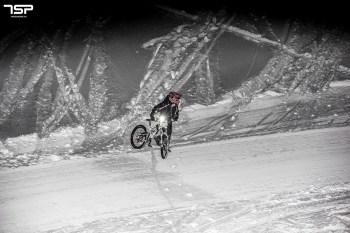 snow bike downhill night mörlialp 2014