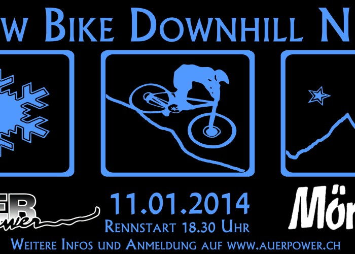 snow bike downhill night mörlialp 2014