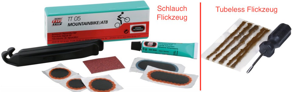 tubeless schlauch flickzeug reparatur kit