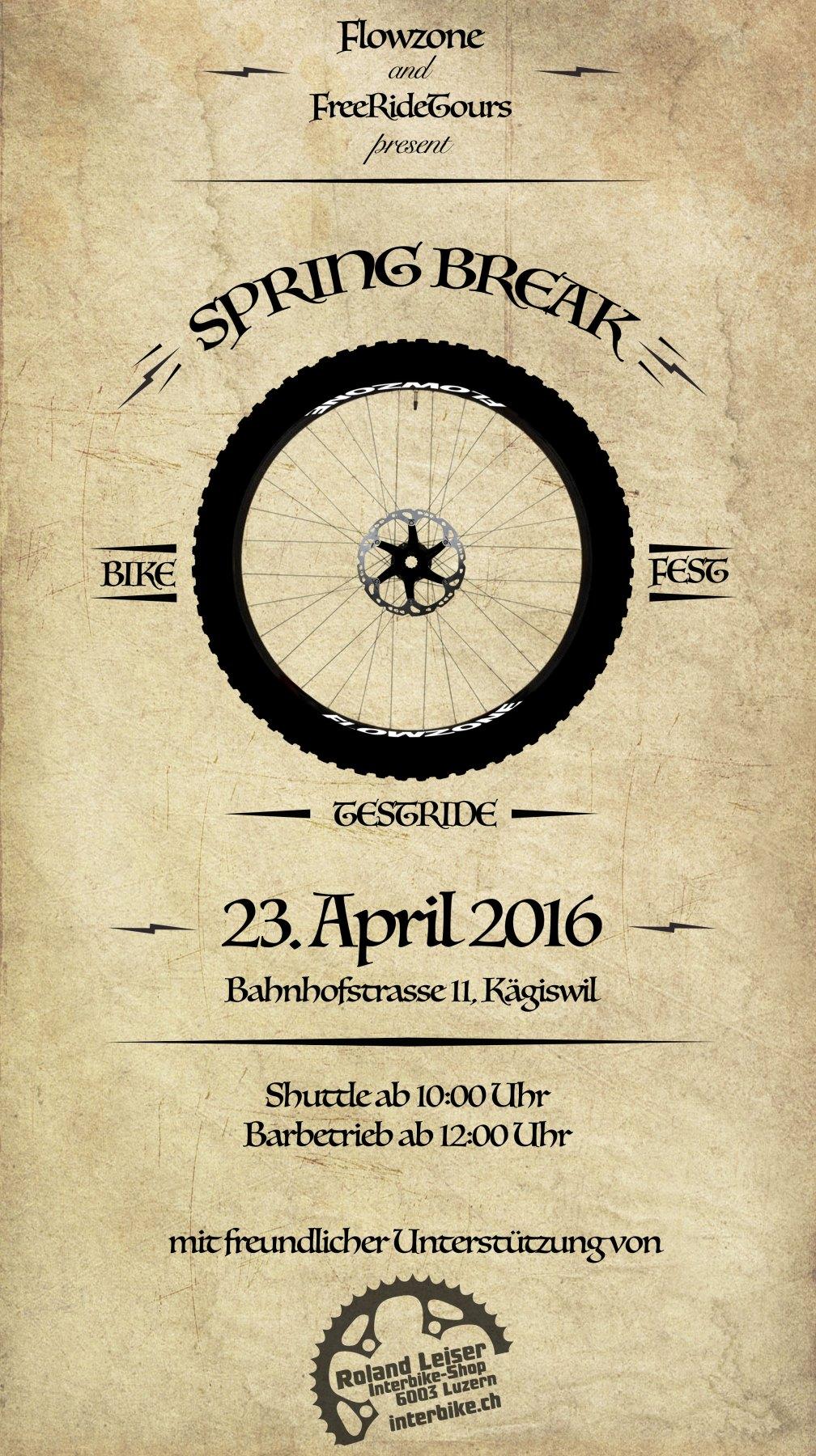 Flyer spring break 2016 mtb event sarnen bikefestsarnen