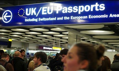 Passport control Heathrow