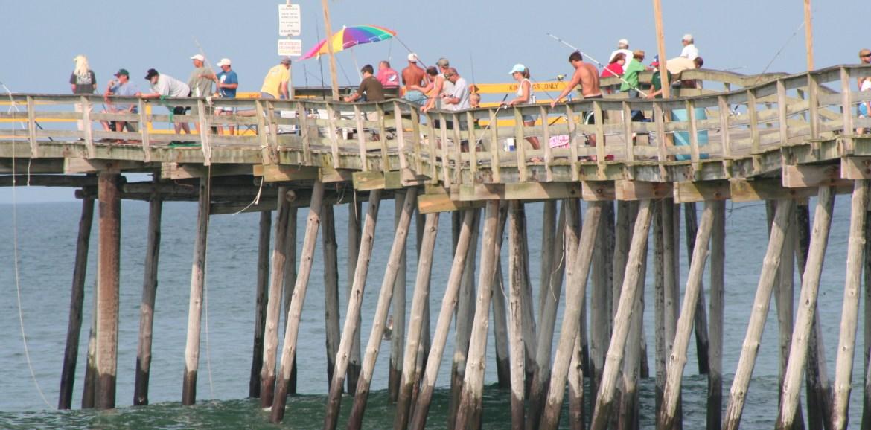 summer pier fishing