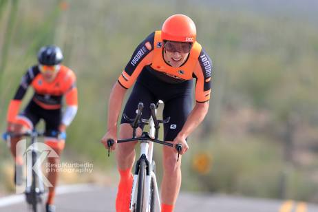 Zukowsky climbs to 2nd during the TBC Stage 1 ITT. ©Resul Kurtbedin Photography