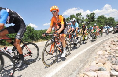 Nigel climbs front group on stage 2