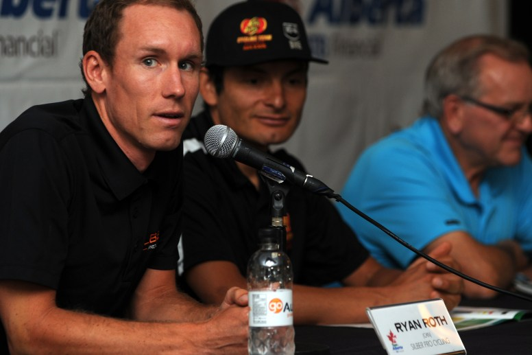 Roth was a featured rider in the opening press conference at the ToA