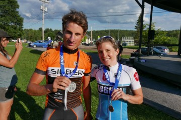 """Masbou"" (Nicolas Masbourian) hanging out with Michelle Paiement after the Quebec Provincial Championships"