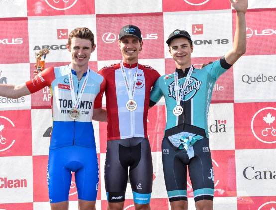 Nick Zukowsky finishes 3rd in the U23 National TT Championships © canadiancyclist.com