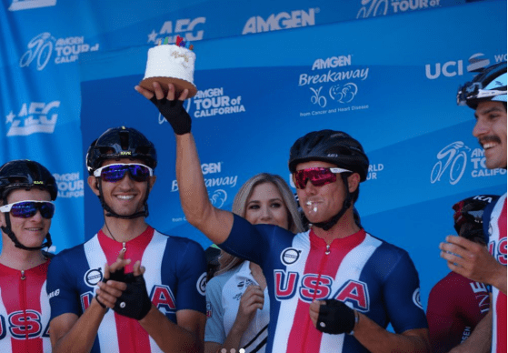 Travis was presented with a bday cake during the team presentations. There was no hesitation.