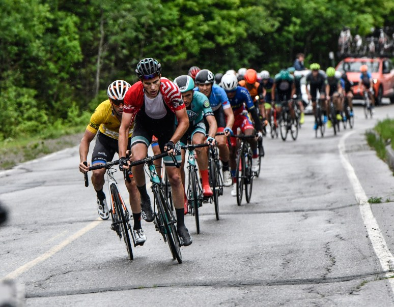 Zuke was aggressive throughout the Megantic stage ©canadiancyclist.com