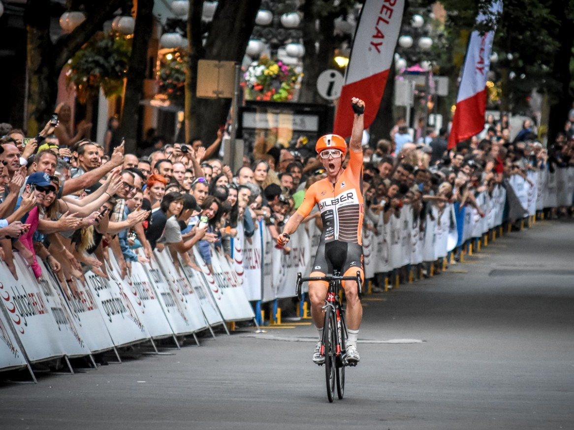 Ryan Roth of Silber Pro Cycling wins the Global Relay Gastown Grand Prix.
