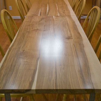 Maple and Galvanized Steel Dining Tables