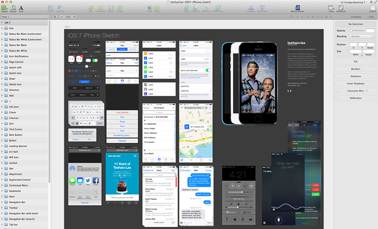 iOS 7 GUI for Sketch