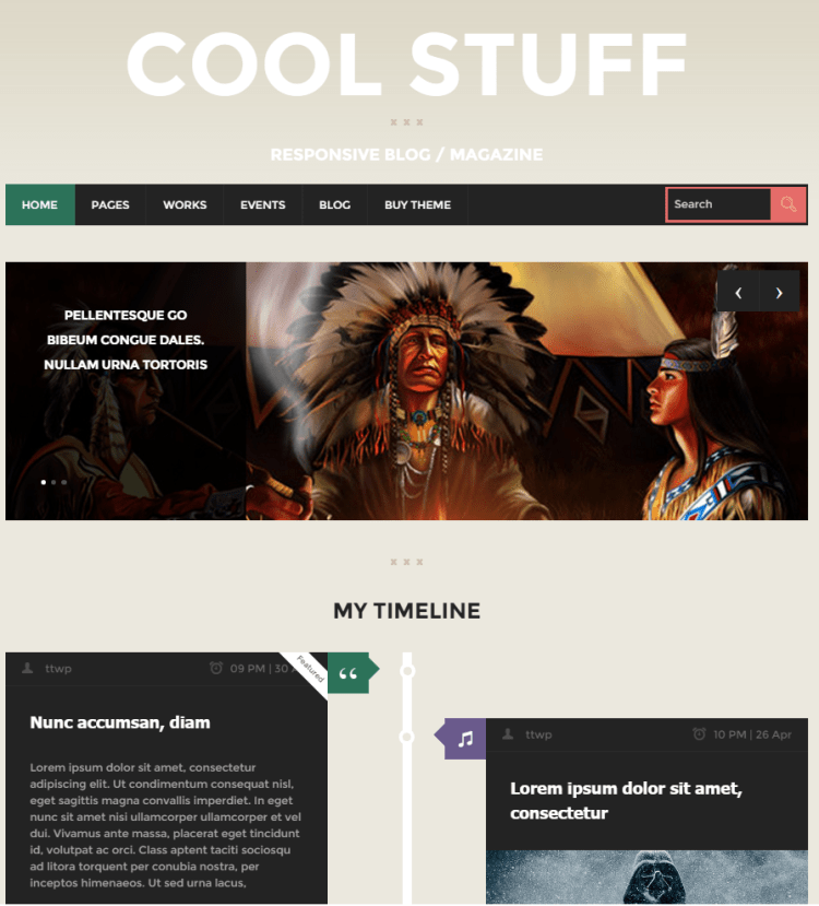 CoolStuff - best wordpress themes for writers