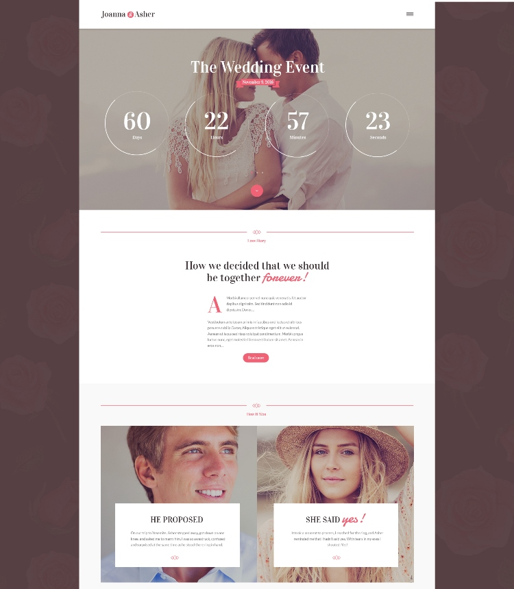 Wedding day themeforest theme