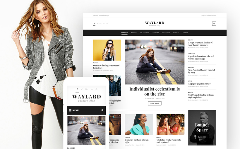 Fashion blog flat theme