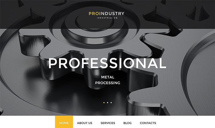 Industrial flat wordpress template