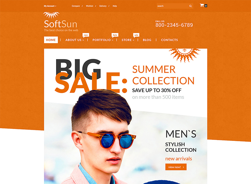 Sunglasses store woocommerce theme