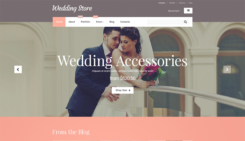 wedding wordpress woocommerce theme