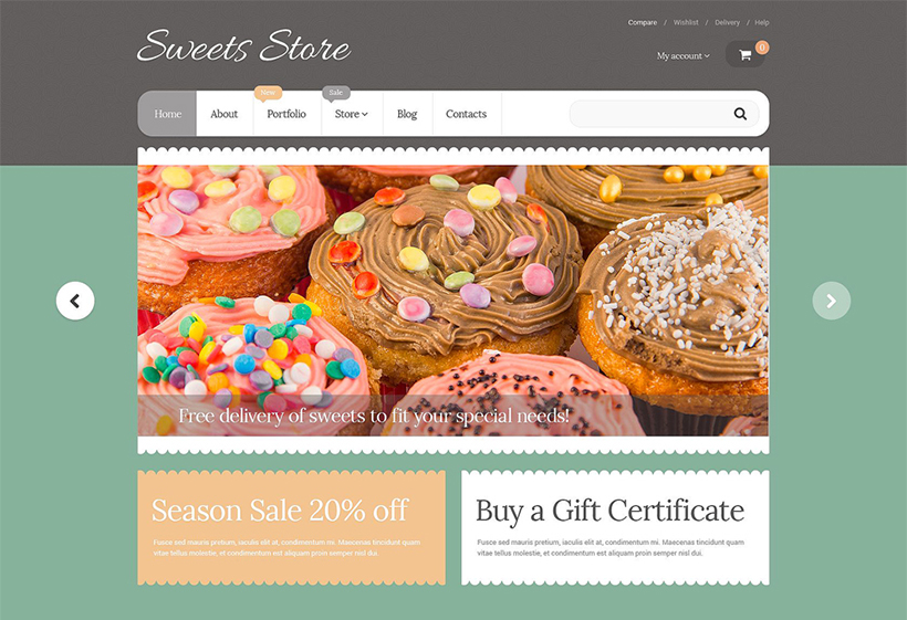 sweets shop template