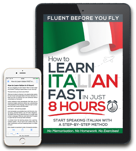 how to learn to speak italian fast