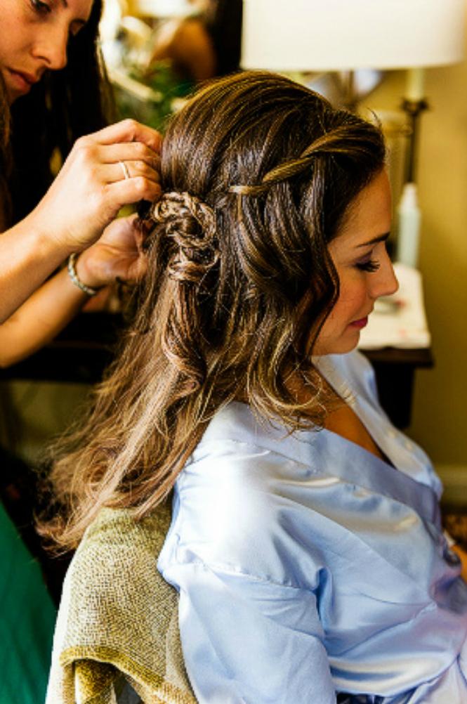 A Braid in a Wedding Hairstyle