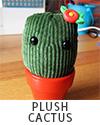Tiny Handmade Plush Cactus
