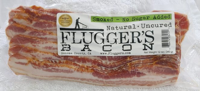 Uncured No Sugar Smoked Bacon - 12 oz Sliced